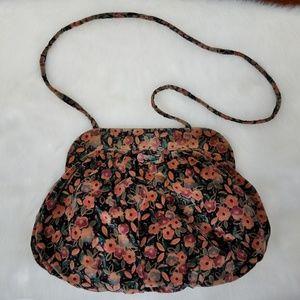 Vintage floral velvet bag